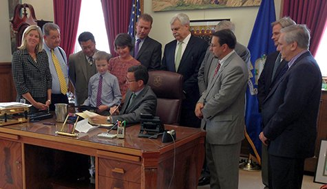 Governor Dannel P. Malloy presented the deed